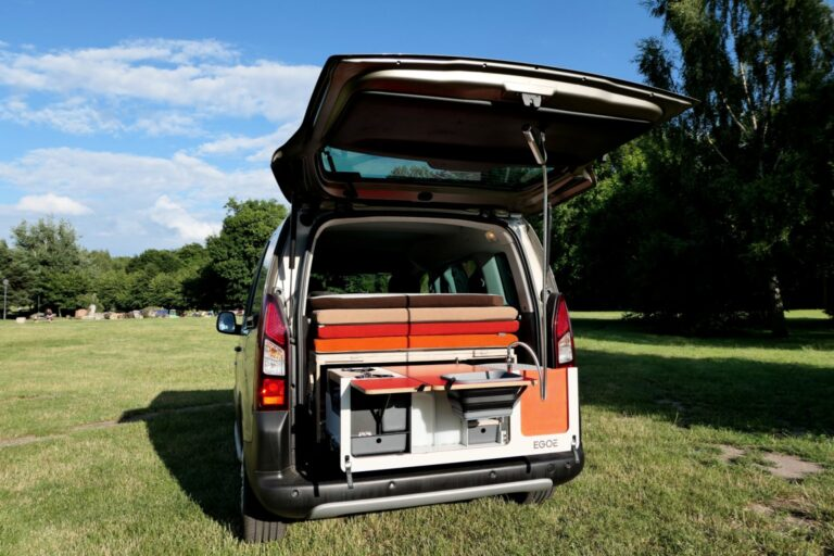 Mini campervan - external shower