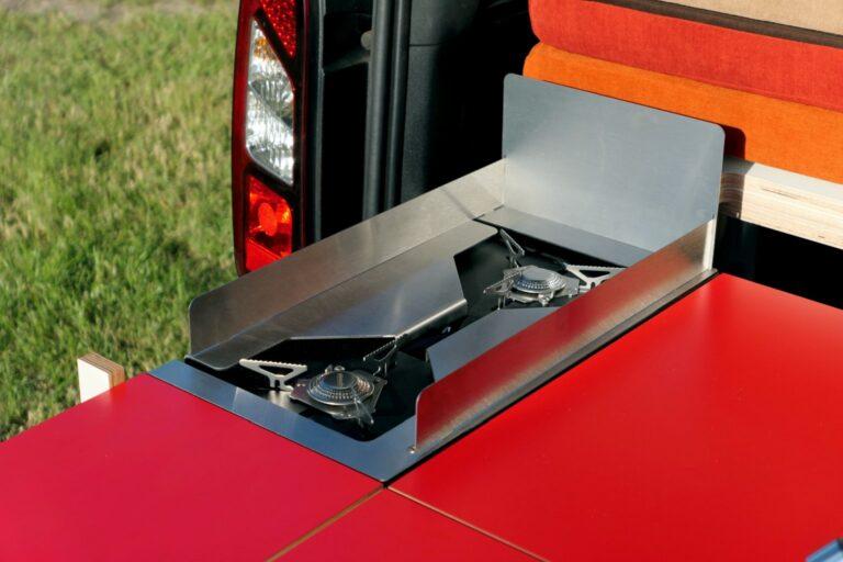 Mini campervan - gas cooker